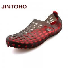 [ 25% OFF ] Jintoho New 2017 Famous Brand Casual Men Sandals Fashion Plastic Sandals Summer Beach Shoes Water Shoes Slippers Fast Shipping