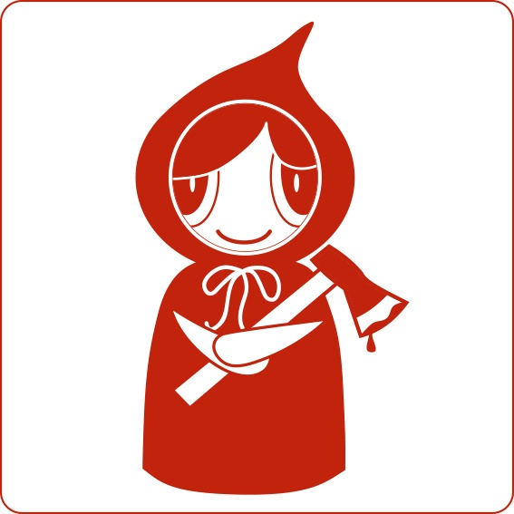 Adrian Morey  #threefivefifty #05 #sticker #3550 #design #red Caperucita roja