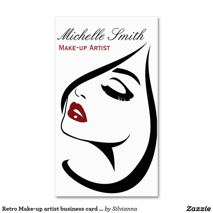 Retro Make-up artist business card design