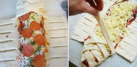 Braided Pizza Calzone Recipe Video Tutorial