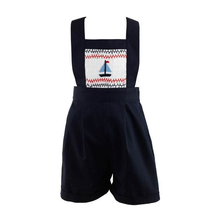 Rachel Riley Sailboat Smocked Dungarees $159.00