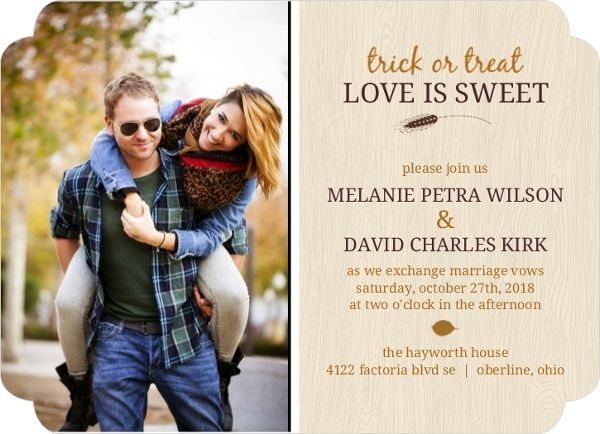 76 best wedding invitations images on pinterest wedding ideas easily customize this love is sweet autumn halloween wedding invitation design using the online editor all of our halloween wedding invitations design stopboris Image collections