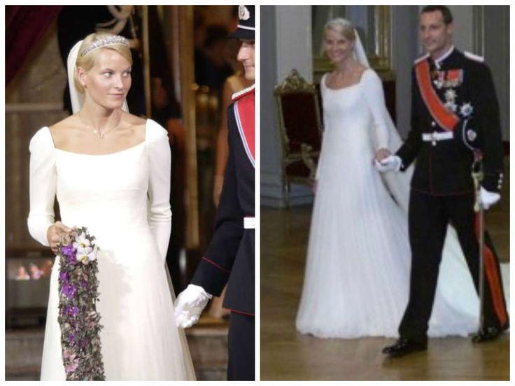 25/08/2001 Mette Marit Tjessen Holby e il principe Haakon di Norvegia.