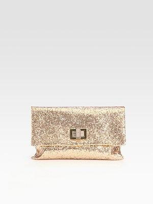 Anya Hindmarch - Valorie Glitter Fabric Clutch - Saks.comGlitter Clutches, Glitter Fabrics, Sparkle Spots, Fabrics Clutches, Anya Hindmarch, Fashion Fêtes, Valorie Glitter, Pretty Clutches, Hindmarch Valorie