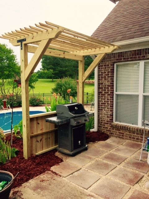Ryobi Nation Grill Shade Structure Backyard Shade Pergola Pergola Patio