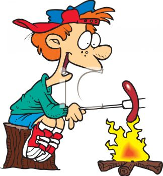 Image result for camping dinner cartoons