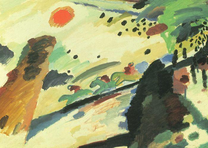 Paesaggio romantico -1911 - Kandinsky Vassili - Opere d'Arte su Tela - Listino prodotti - Digitalpix - Canvas - Art - Artist - Painting
