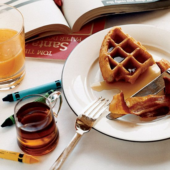 Cornmeal-and-Ricotta Waffles // Breakfast For a Crowd: http://www ...