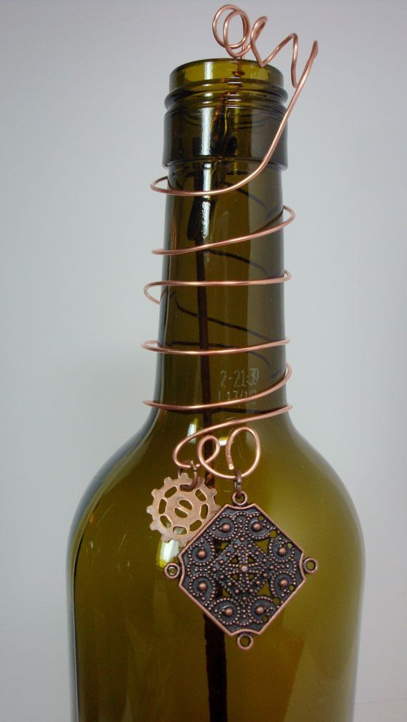 Incense Burner Repurposed Wine Bottle with by
