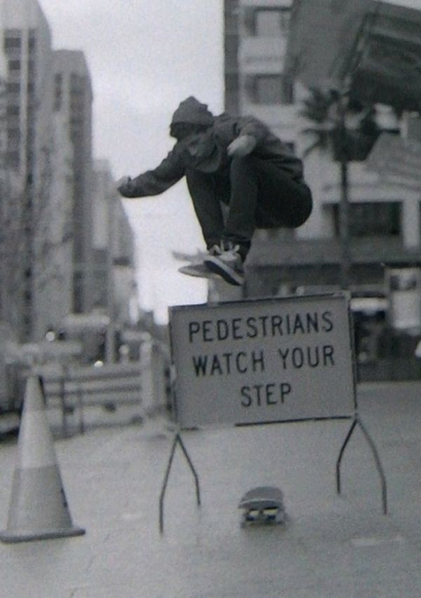 Pedestrians watch your step.