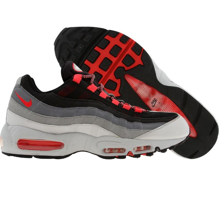 nike air max 95 360 - white\/black-solar red roof