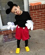 Mickey Mouse Homemade Costume