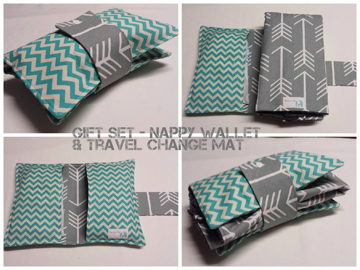 Nappy Wallet Babyshower Gift set - Nappy Wallet and Travel Change Mat. Choose your own fabric by MattynMe on Etsy