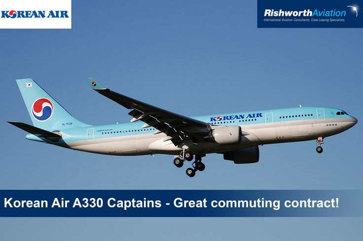 Calling all A330 Captains! Are you looking for a great commuting contract? Apply now for December Screenings with Korean Air! http://ow.ly/SJdFl #RishworthAV #pilotjobs