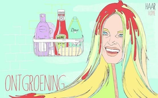 Beautyblender - Green hair, de-greening - ketchup - summer - red - beauty