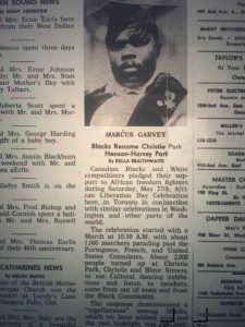 Marcus Garvey, Jamaican Leader of Pan Africanism, celebrated during African Liberation Day, 1968