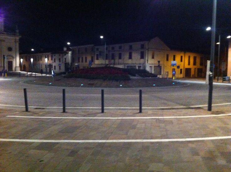 Installazione geco Luce Fluo - Rotonda Comune di Fontaniva | Le news