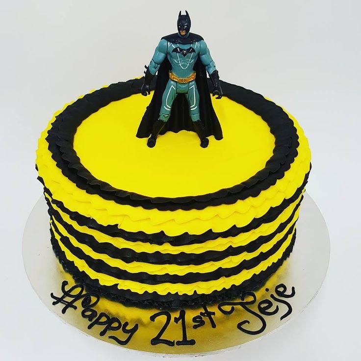 Yellow and Black Frills with Batman Figurine