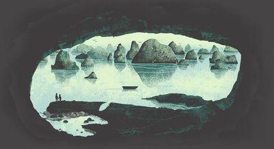 ha long bay illustration.