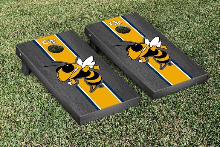 Tech GT Yellow Jackets Cornhole Game Set Onyx