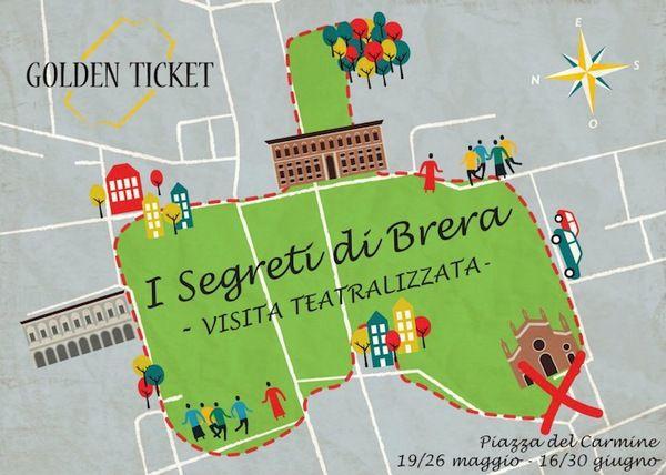 I segreti di Brera in  Piazza Del Carmine a Milano con una Visita Teatralizzata