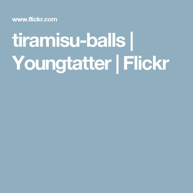 tiramisu-balls | Youngtatter | Flickr