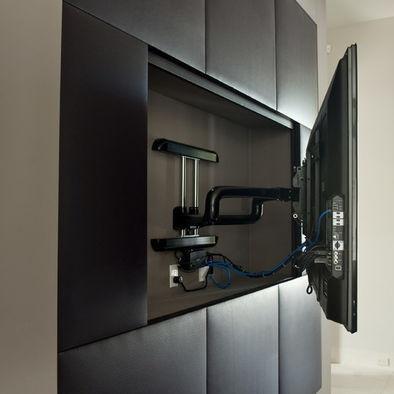 Wall mount tv ideas design home decor pinterest - Hanging tv on wall ideas ...