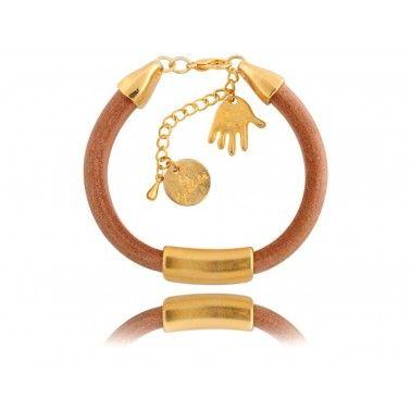 bransoleytka, dłoń, złota