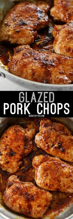 Glazed Pork Chops are the easiest, juiciest, and most flavorful chops you'll ever make! http://BudgetBytes.com