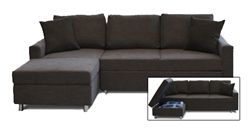 Modern Pullout Sectional Sofa Bed With Storage | Sofa Fit For A Condo Living | Serendipity
