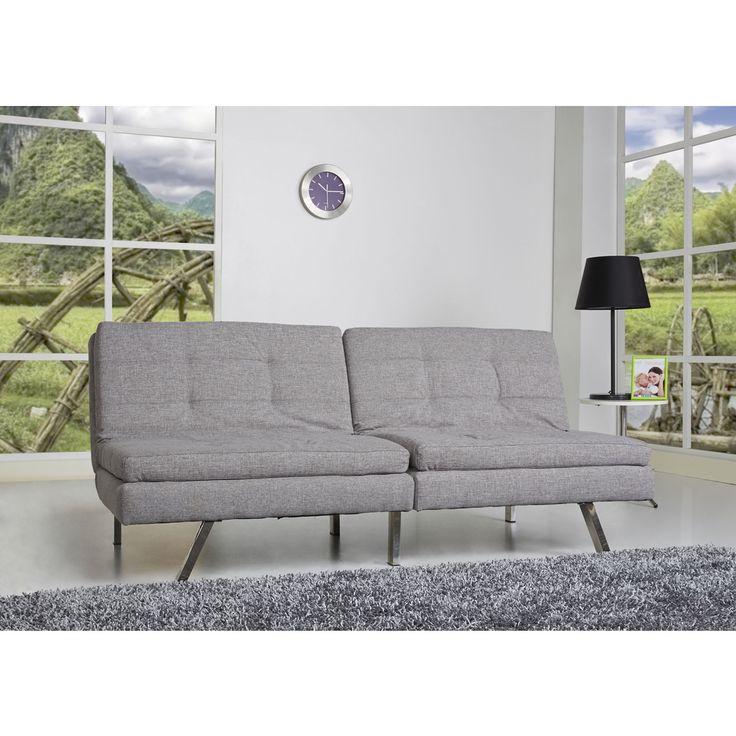 Memphis Ash Double Cushion Futon Sofa Bed Overstock