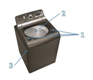 how to clean a top loading he washing machine