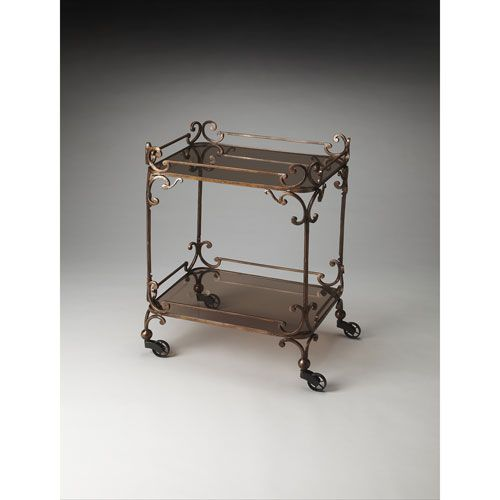Delphine Iron Serving Cart