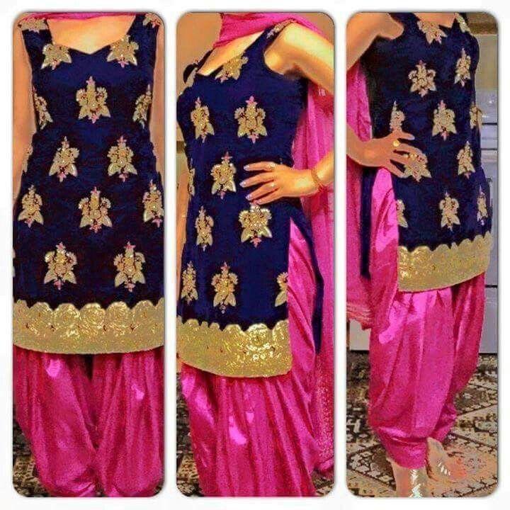 beautifull punjabi salwar suit ... nice  colour combination  .. wanna…