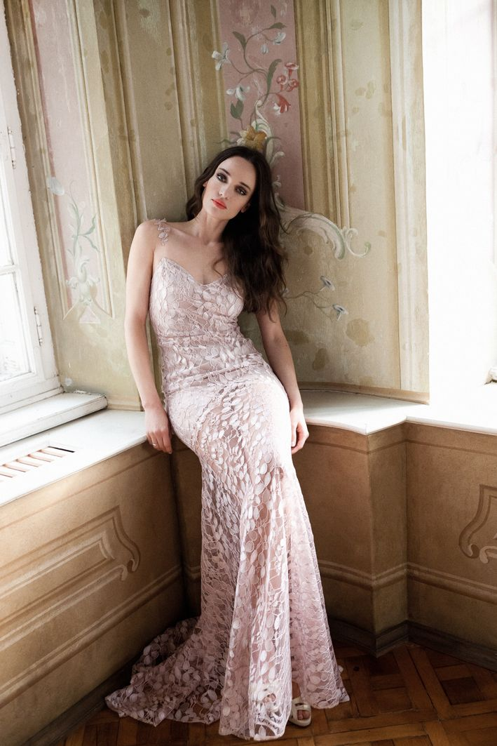 Daalarna Couture Powder Pink Evening Dress_Belle Collection