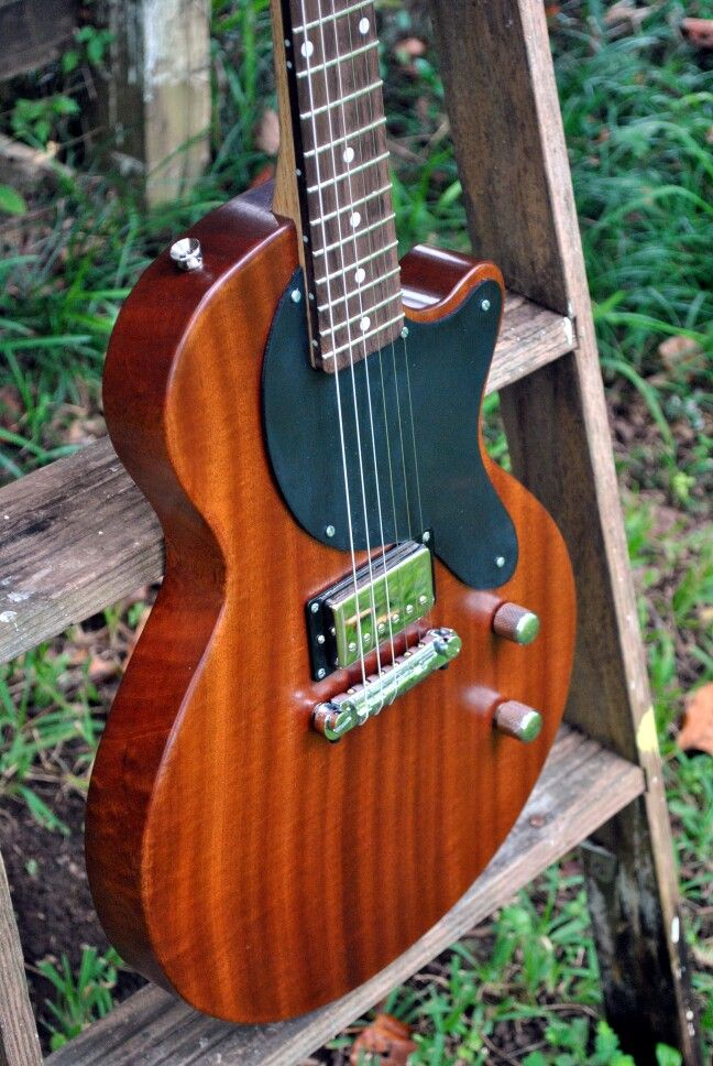 My custom Sapele Tallahatchie model.  Sapele body with oak and rosewood neck.
