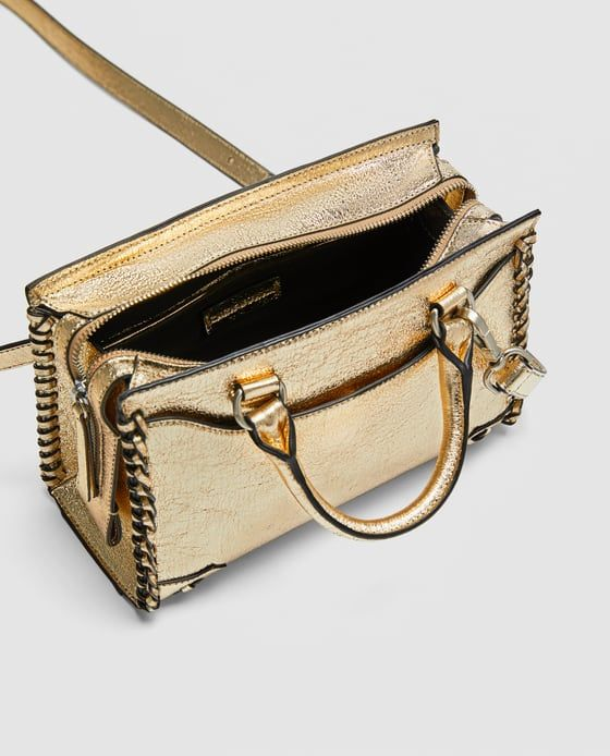 1bcd634ef Image 2 of MINI GOLDEN BOWLING BAG from Zara | Zara | Pinterest