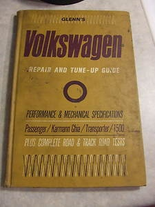 1964 GLENN'S VOLKSWAGEN REPAIR AND TUNEUP TUNE-UP GUIDE Chilton Manual Book