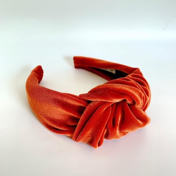 Rusty Orange Velvet Headwrap