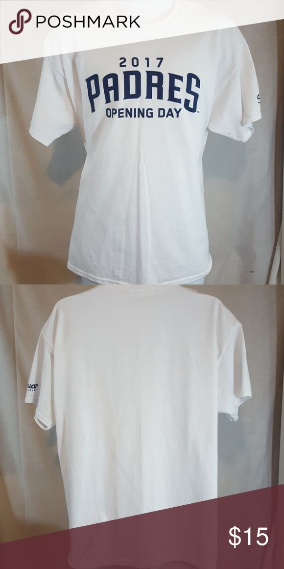 "San Diego Padres MLB baseball white XL t shirt Real good condition.  Measures 23"" across chest and 29"" long from top mid shoulder to bottom hem Shirts Tees - Short Sleeve"