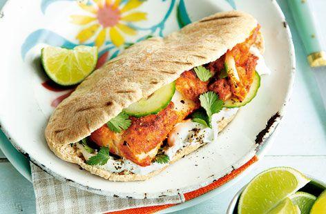 Tandoori fish pittas | Tesco Real Food