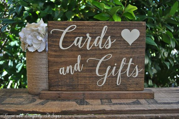 CaRDs and GiFts SiGn Rustic Stained SWeeTHeaRT TaBLe SiGn by LizzieandCoDesigns, etsy