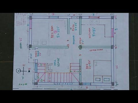 20 X 30 25 X 27 North East House Plan Walk Through