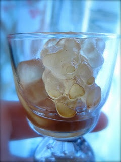 pina colada gummie bears.....this site has a plethora of jello shots....