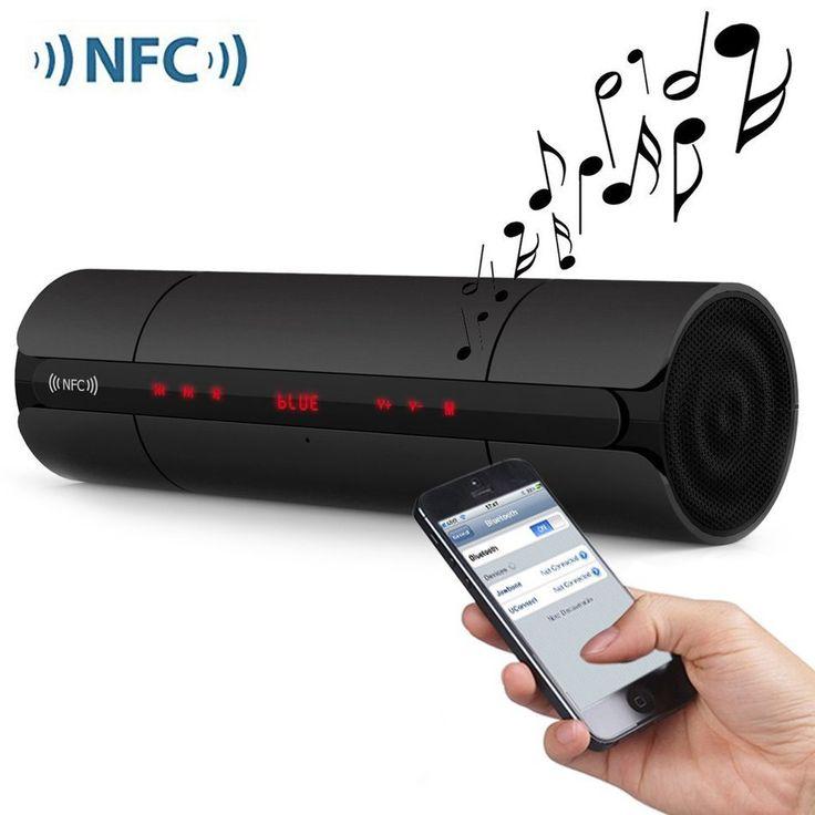 KR8800 Portable Bluetooth V3.0 LED Speaker Wireless NFC FM HIFI Stereo Loudspeakers Super Bass Caixa Se Som Sound Box for Phone