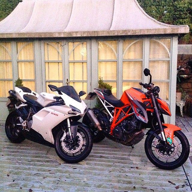 Decisions decisions... Ducati 848 or KTM Super Duke? Photo: @ash.gibb Use the hashtag #2WP or DM us for your chance for a feature #motorbike #motorcycle #sportsbike #yamaha #honda #suzuki #kawasaki #ducati #triumph #aprilia #dirtbike #harleydavidson #r1 #r6 #cbr #gsxr #fireblade #hayabusa #gopro #wheelie #hero4 #sports #adrenaline #zx10r #bmw #s1000rr #ktm #bikelife #Twowheelpassion #followback #FF #instafollow #motorbike #tagforlikes