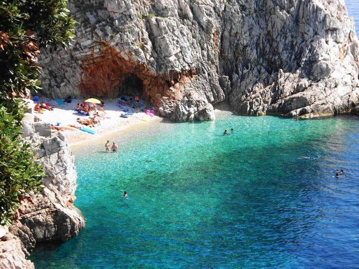 rogoznica, Peljesac , Split Kasuni  beach in Croatia
