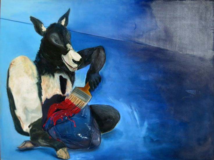 04. Kiran Shah - Untitled - oil on canvas size 42 x 66 inch -Price upon request.