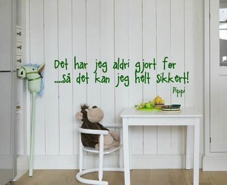 Pippi Longstocking quote - Wallsticker