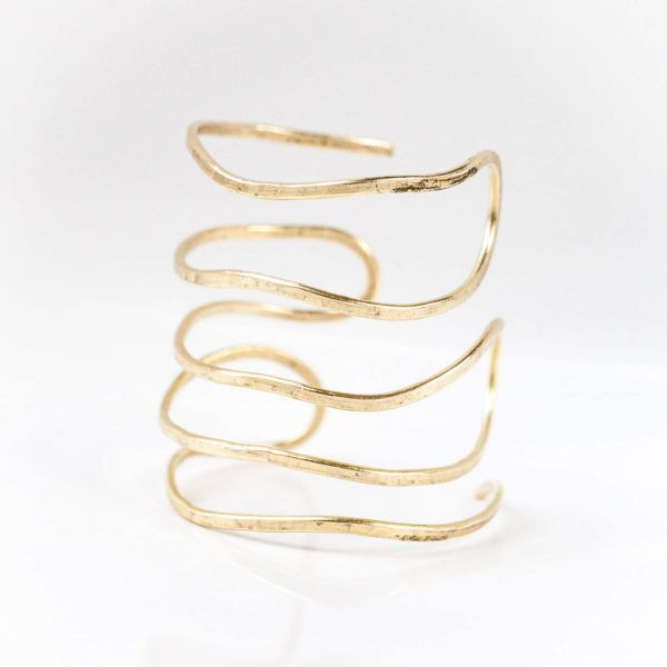 PROTOGON Greek Hammered handmade wire cuff bracelet, Bangle wrist, Rose tone goldplated bronze , summer jewelry,gift for her, bronze brass